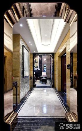 新中式精装修进门玄关图片欣赏