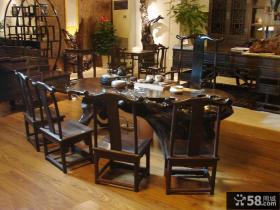 中式古典餐桌图片大全