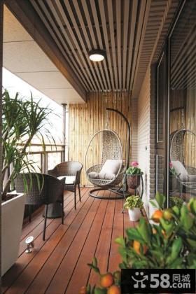 休闲现代家居阳台设计装修