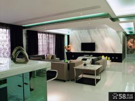 后现代风格客厅电视背景墙装修效果图