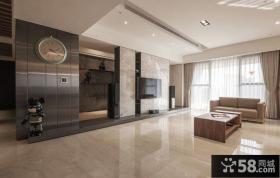 简约风格120平米三居室室内装修效果图大全2014