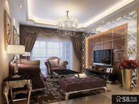 现代欧式客厅窗帘设计图片