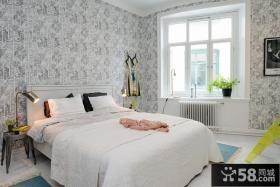 北欧风格壁纸卧室装修图欣赏
