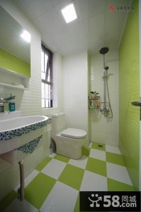 现代家庭卫生间瓷砖装修效果图片