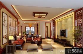 中式客厅装修效果图大全2012图片 电视背景墙装修设计