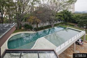 别墅游泳池外观效果图