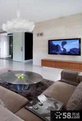 现代风格室内客厅吊顶装修