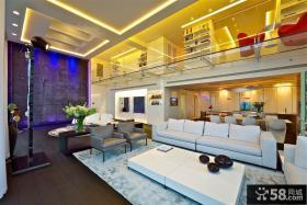 现代复式公寓室内装修效果图