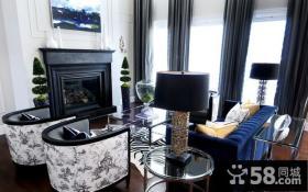 17万打造温馨奢华欧式风格二居卧室窗帘装修效果图大全2014图片
