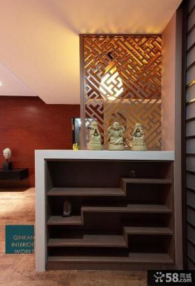 中式玄关鞋柜装修效果图欣赏