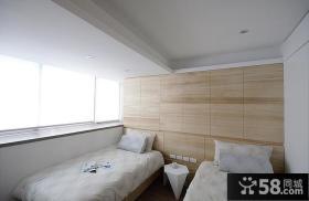 简约日式设计装修卧室图