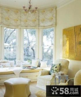 欧式家居客厅飘窗图2014