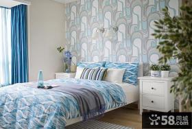 宜家风格卧室墙纸图片欣赏
