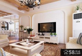 简欧装修优质客厅电视背景墙效果图