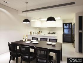 厨房小餐厅一体装修效果图大全2013图片