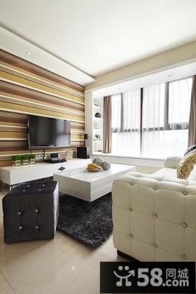 简约时尚优质家居客厅电视背景墙图