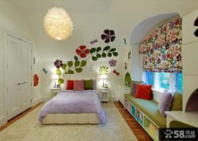 卧室飘窗窗帘装饰设计效果图