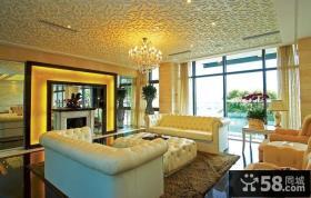 2013年家装客厅天花板吊顶效果图