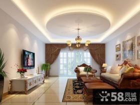 现代简约客厅吊顶造型设计