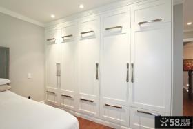 白色整体卧室衣柜图片