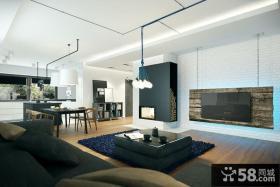 现代时尚设计别墅室内效果图
