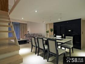 简约复式室内家居装修设计图片