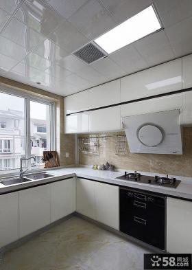简欧复式家庭设计厨房图片