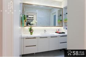 现代精致卫生间洗手台装修