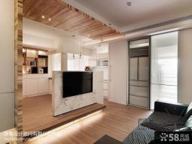 客厅电视墙隔断设计效果图
