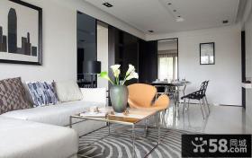 简约风格小户型客厅茶几装饰品效果图