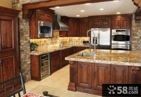 美式乡村厨房台面图片欣赏