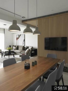 后现代风格餐厅电视背景墙效果图