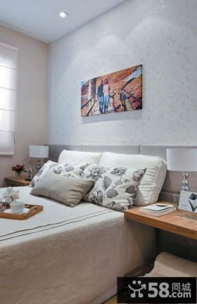 现代式卧室背景墙装饰画效果图
