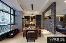 三居室餐厅客厅隔断设计效果图