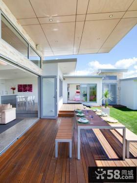 家庭设计豪华复式封闭式阳台效果图