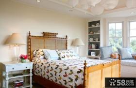 美式乡村风格装修卧室图片