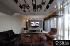 豪华的皇宫俄罗斯北欧风格电视背景墙装修效果图大全2012图片