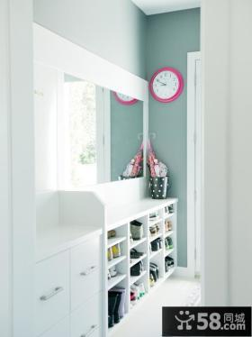 时尚白色家装鞋柜图片