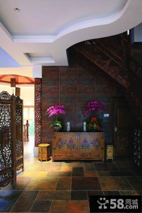 中式古典明清风格玄关装修