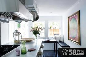 欧式简约风格厨房装饰效果图