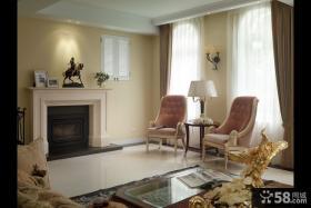 复古简欧风格别墅室内设计效果图