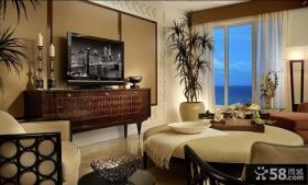 客厅装修效果图 电视背景墙效果图2012