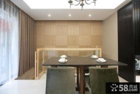 中式现代复式家居餐厅效果图片