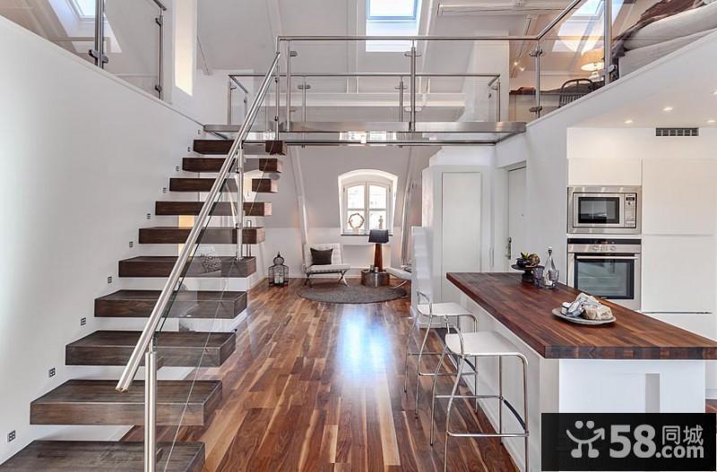 50平米loft公寓装修效果图