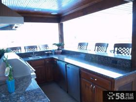 阳台厨房装修效果图大全2014