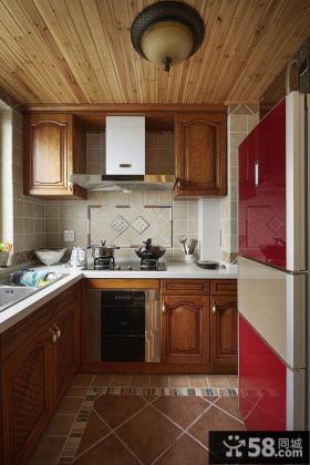 地中海风格实木厨房装修图片