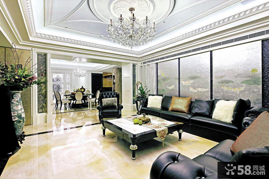 现代欧式风格家居客厅装修效果图