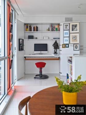 小面积阳台变书房装修效果图