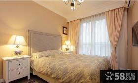 美式乡村风格卧室设计效果图片