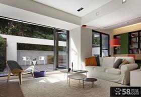 别墅客厅地毯装饰图片